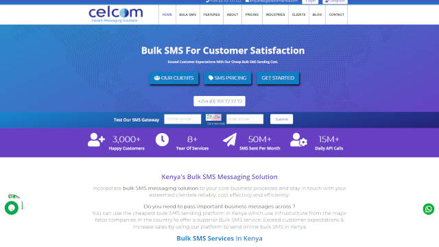 Bulk SMS Website Kenya