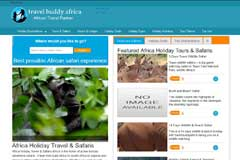 Tours Travel Website Design - Travel Buddy Africa Tours