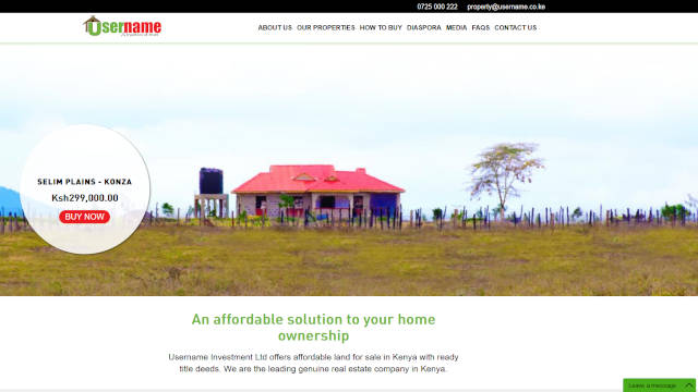 Properties Website Design - Real Estate